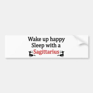 Wake Up Happy Bumper Sticker
