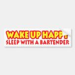 Wake Up Happy Car Bumper Sticker