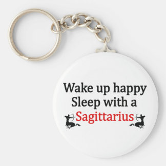 Wake Up Happy Keychain