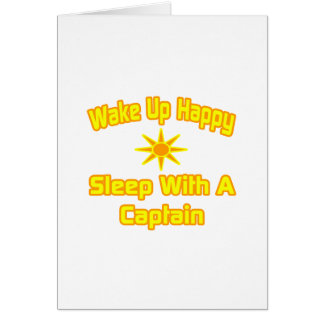 Wake Up Happy Sleep With a Captain Cards