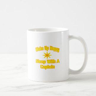 Wake Up Happy ... Sleep With a Captain Classic White Coffee Mug