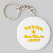 Wake Up Happy ... Sleep With an Architect Basic Round Button Keychain