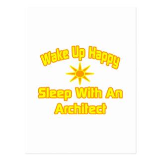 Wake Up Happy Sleep With an Architect Post Card