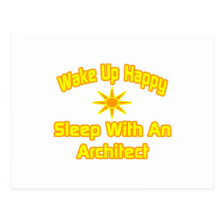 Wake Up Happy ... Sleep With an Architect Postcard