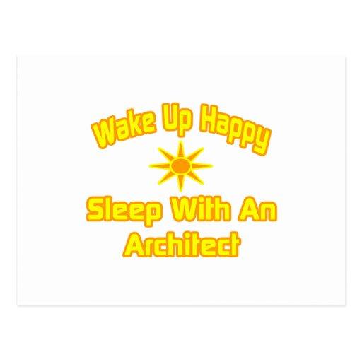 Wake Up Happy ... Sleep With an Architect Postcard