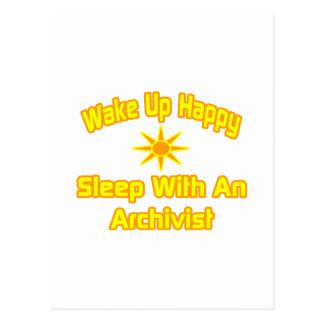 Wake Up Happy ... Sleep With an Archivist Postcard