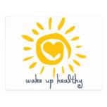 Wake Up Healthy Post Card