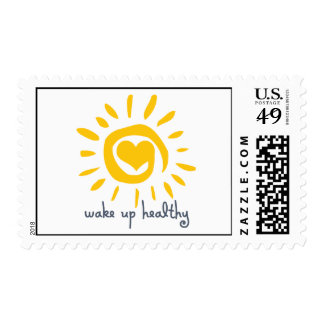 Wake Up Healthy Postage Stamps