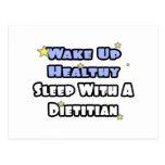 Wake Up Healthy...Sleep With a Dietitian Postcard