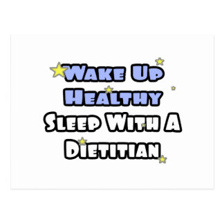 Wake Up Healthy...Sleep With a Dietitian Postcard