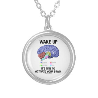 Wake Up It's Time To Activate Your Brain (Humor) Necklace