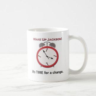 WAKE UP JACKSON CLASSIC WHITE COFFEE MUG