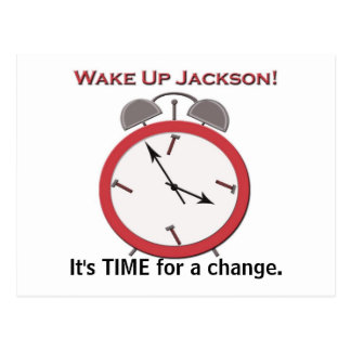 WAKE UP JACKSON POSTCARD