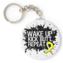 Wake Up Kick Butt Repeat - Endometriosis Keychain