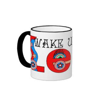 WAKE UP LEO! RINGER COFFEE MUG