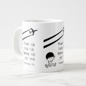 Wake Up Look Up Speak Up For Me Chemtrails Kill Giant Coffee Mug
