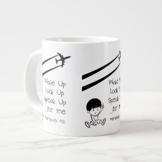 Wake Up Look Up Speak Up For Me Chemtrails Kill Jumbo Mugs