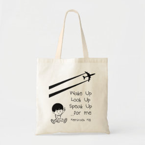Wake Up Look Up Speak Up For Me Chemtrails Kill Tote Bag