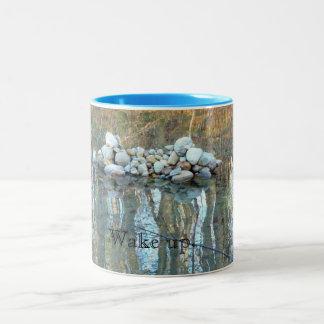 Wake Up Mug with Walden Pond Cairn