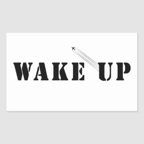 WAKE UP RECTANGULAR STICKER