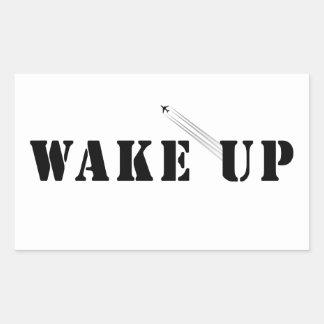 WAKE UP RECTANGULAR STICKER