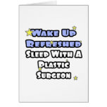 Wake Up Refreshed...Sleep With a Plastic Surgeon Cards