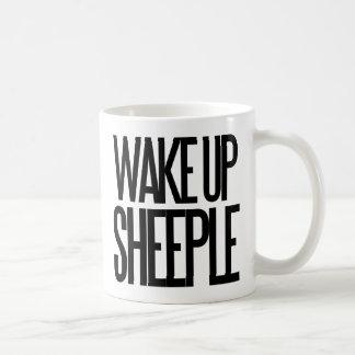 Wake up sheeple classic white coffee mug