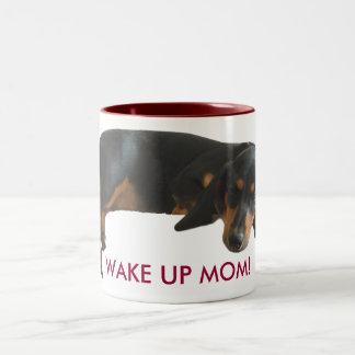 Wake Up Sleepyhead Cute Puppy Mug