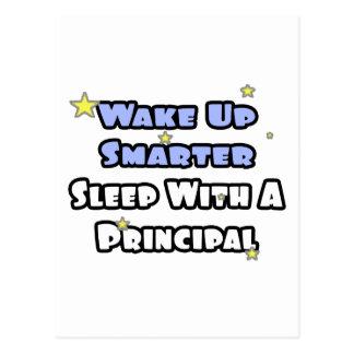 Wake Up Smarter...Sleep With a Principal Postcard