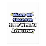 Wake Up Smarter...Sleep With an Accountant Postcard