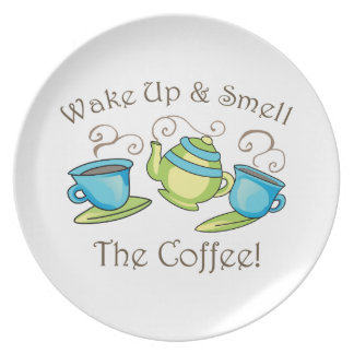 Wake Up & Smell Dinner Plate