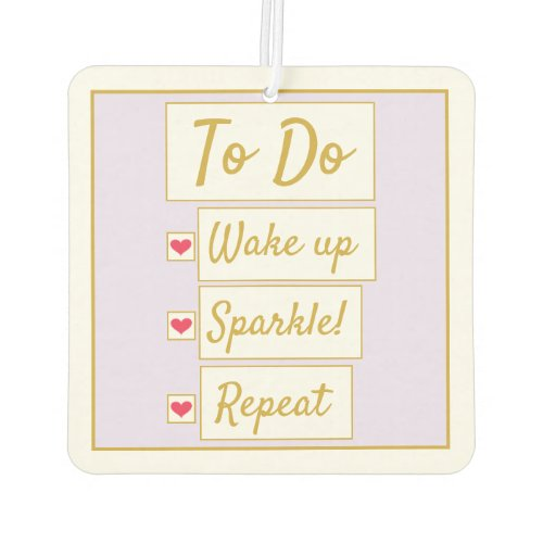 Wake Up, Sparkle, Repeat Purple & Gold Air Freshener