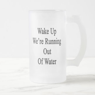 Wake Up We're Running Out Of Water Frosted Glass Beer Mug
