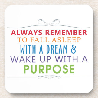 Wake Up With a Purpose Coaster
