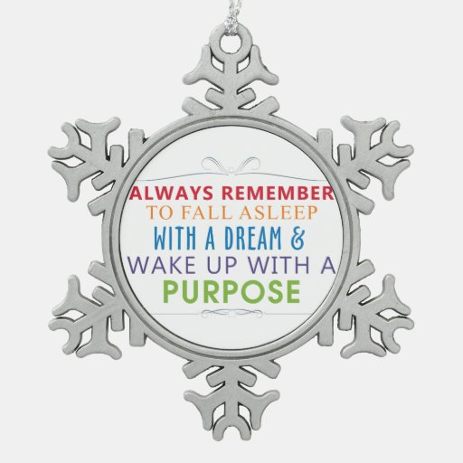 Wake Up With a Purpose Ornament