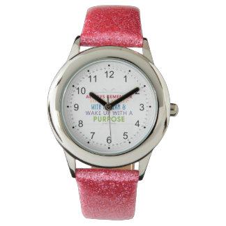 Wake Up With a Purpose Wrist Watch
