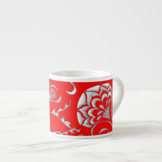 Wake Up With Red! 6 Oz Ceramic Espresso Cup