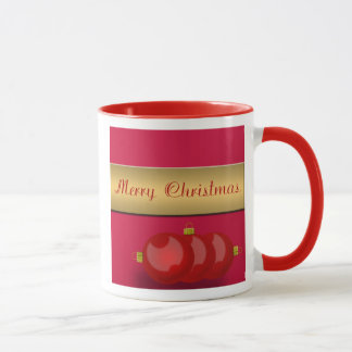 Wake Up With Shiny Red Ornaments Mug