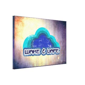 Wake & Vape Cancas Print