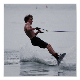 Wakeboard Angle Poster