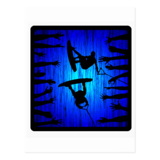Wakeboard Blue Kicker Postcard