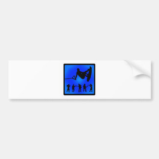 Wakeboard Blue Sounds Bumper Stickers