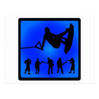 Wakeboard Blue Sounds Postcard