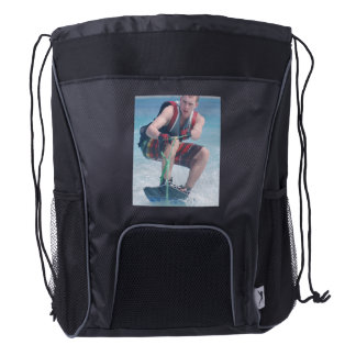Wakeboard Crouch Drawstring Backpack