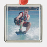 Wakeboard Crouch Ornament