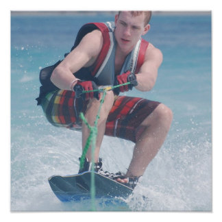 Wakeboard Crouch Print