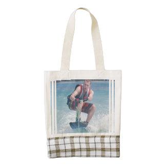 Wakeboard Crouch Zazzle HEART Tote Bag