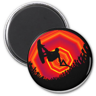 Wakeboard Dreaming People 2 Inch Round Magnet