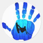 Wakeboard Hand Trust Classic Round Sticker