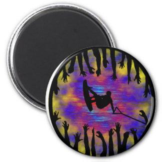 Wakeboard Mad Skills 2 Inch Round Magnet